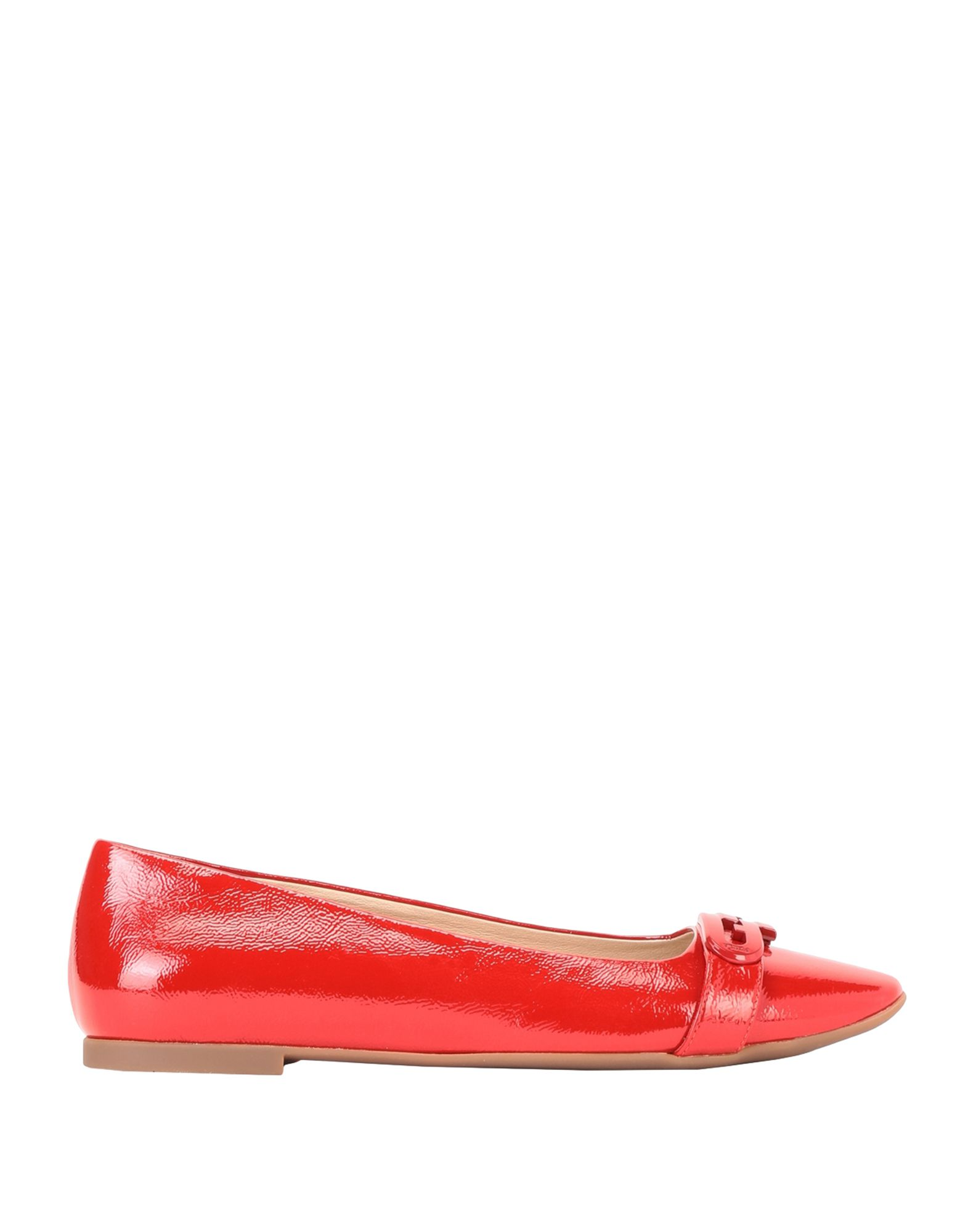FURLA Ballet flats. varnished effect, logo, solid color, round toeline, flat, leather lining, rubber sole, contains non-textile parts of animal origin. 100% Soft Leather
