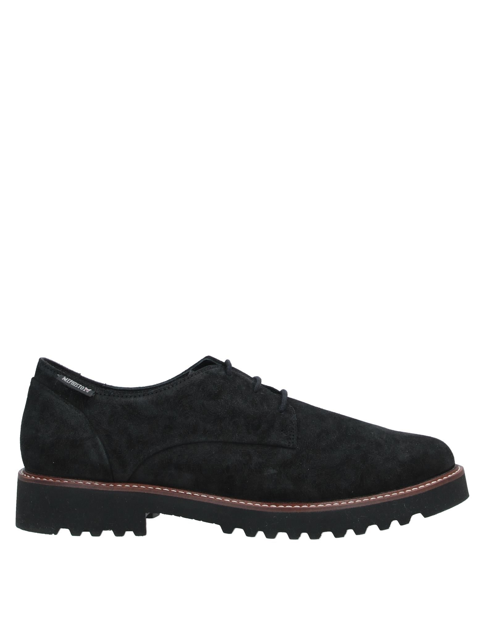 MEPHISTO Lace-up shoes. leather, suede effect, no appliqués, solid color, round toeline, flat, leather lining, rubber cleated sole, contains non-textile parts of animal origin. Soft Leather