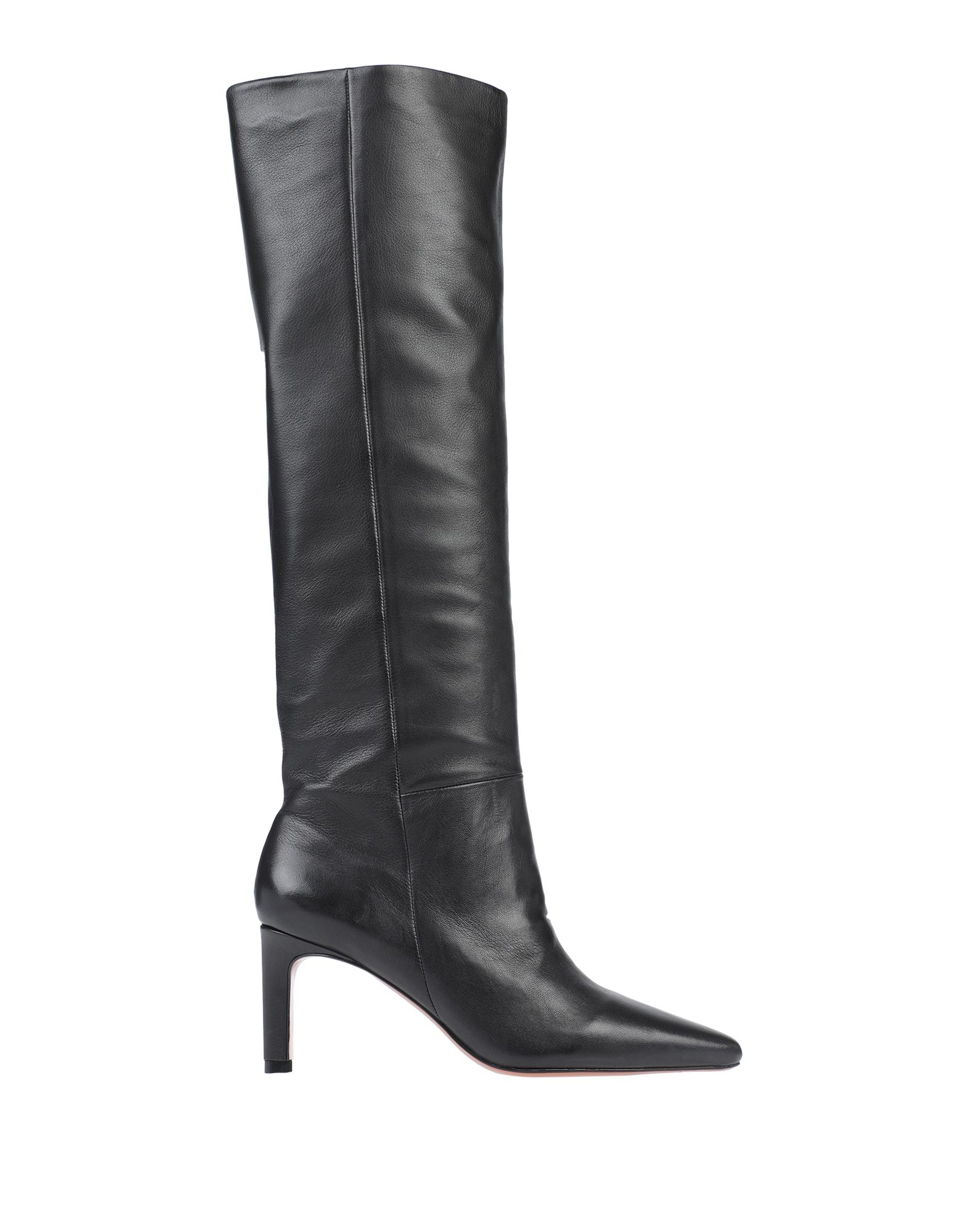 ZIMMERMANN Boots. leather, no appliqués, solid color, stiletto heel, narrow toeline, leather lining, leather sole, contains non-textile parts of animal origin. Soft Leather