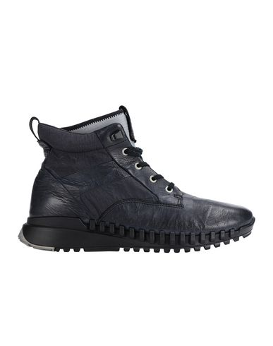 STONE ISLAND S0796 GARMENT DYED LEATHER EXOSTRIKE BOOT WITH DYNEEMA® SHOE Man Black EUR 322