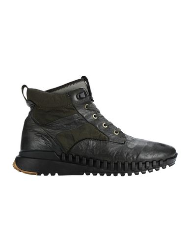 STONE ISLAND S0796 GARMENT DYED LEATHER EXOSTRIKE BOOT WITH DYNEEMA® SHOE Man Musk Green EUR 344