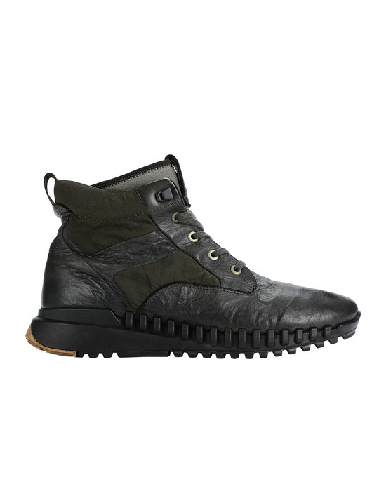 STONE ISLAND S0796 GARMENT DYED LEATHER EXOSTRIKE BOOT WITH DYNEEMA® SHOE Man Musk Green