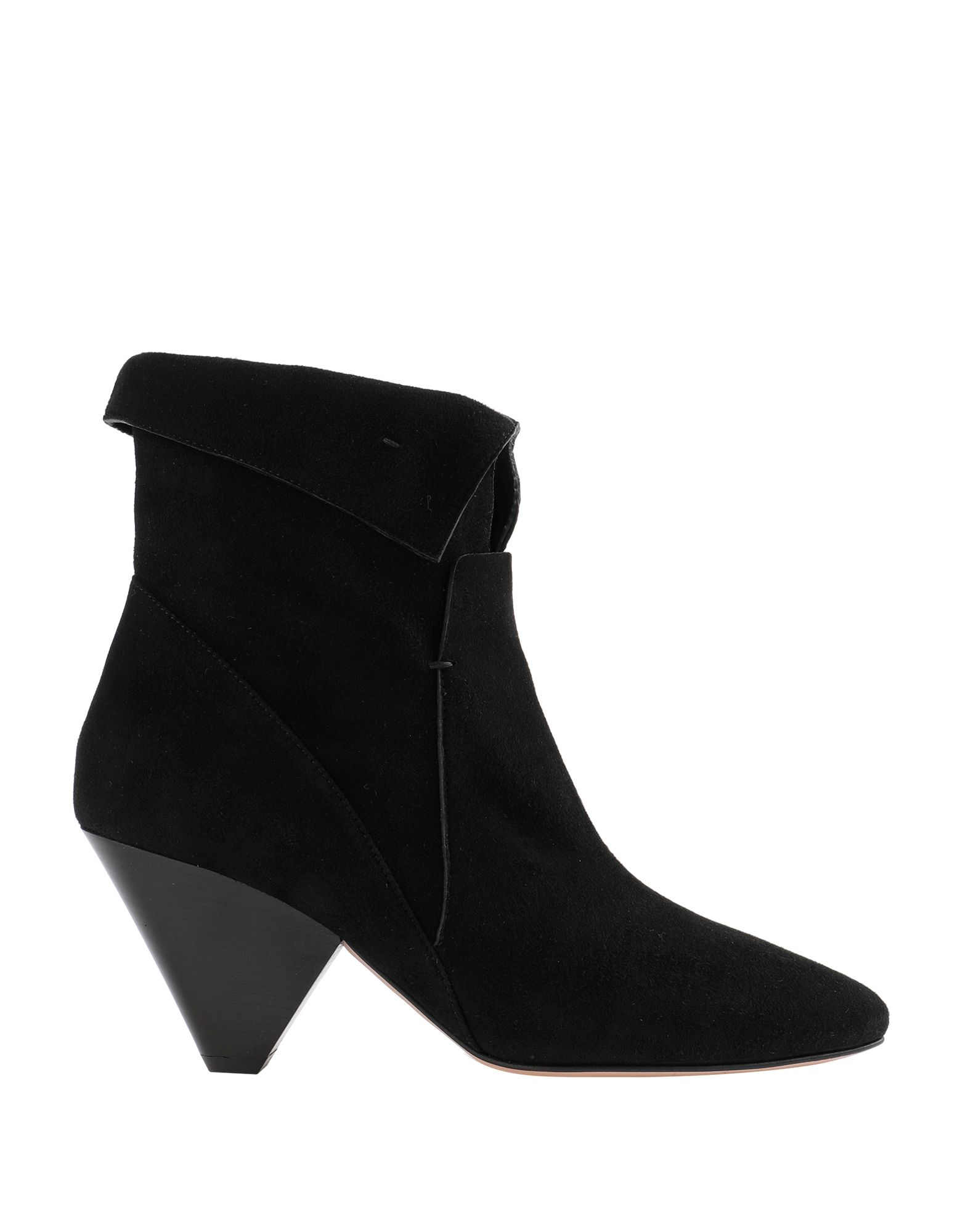 VERONICA BEARD Ankle boots. suede effect, stitching, solid color, narrow toeline, cone heel, leather lining, leather sole, contains non-textile parts of animal origin, zipper closure. Soft Leather