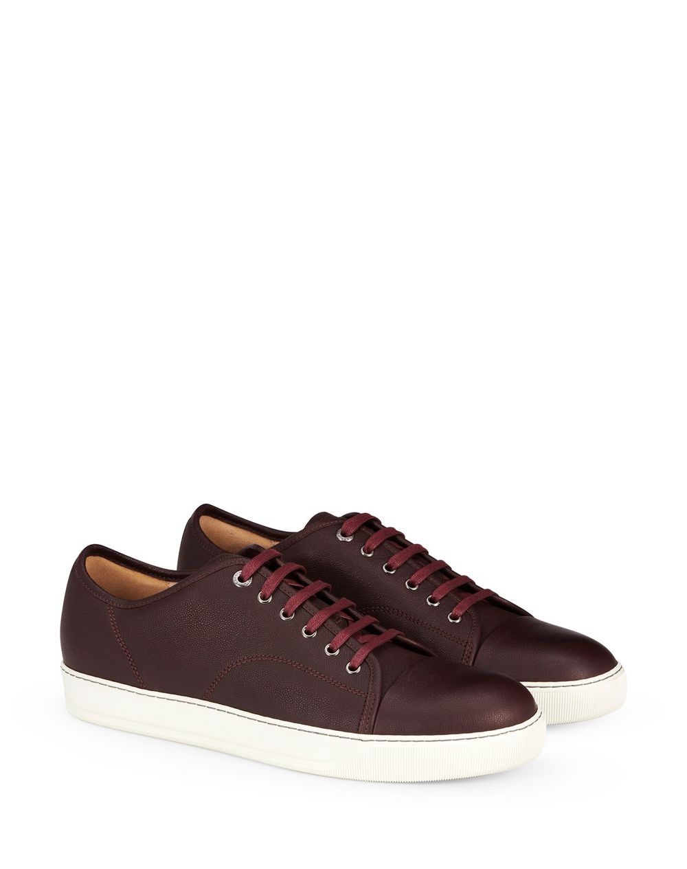DBB1 GRAINED LEATHER TRAINERS - Lanvin