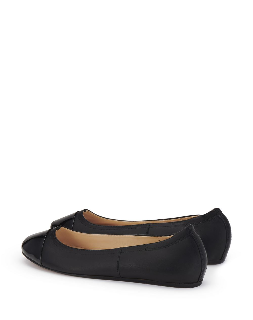 NAPPA AND PATENT CALFSKIN LEATHER BALLET FLATS - Lanvin