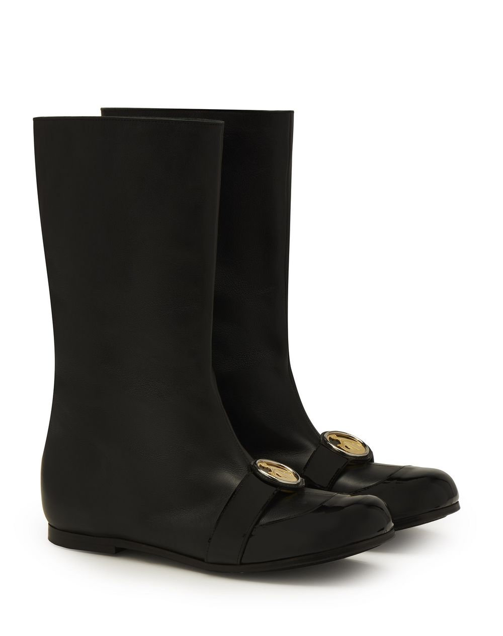 JANE BOOTS IN GRAINED CALFSKIN LEATHER - Lanvin