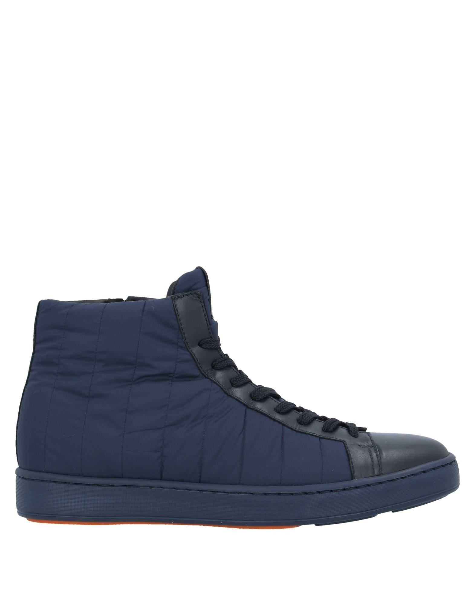 SANTONI Sneakers. no appliqués, solid color, zipper closure, round toeline, flat, leather lining, rubber cleated sole, contains non-textile parts of animal origin, large sized. Soft Leather, Textile fibers