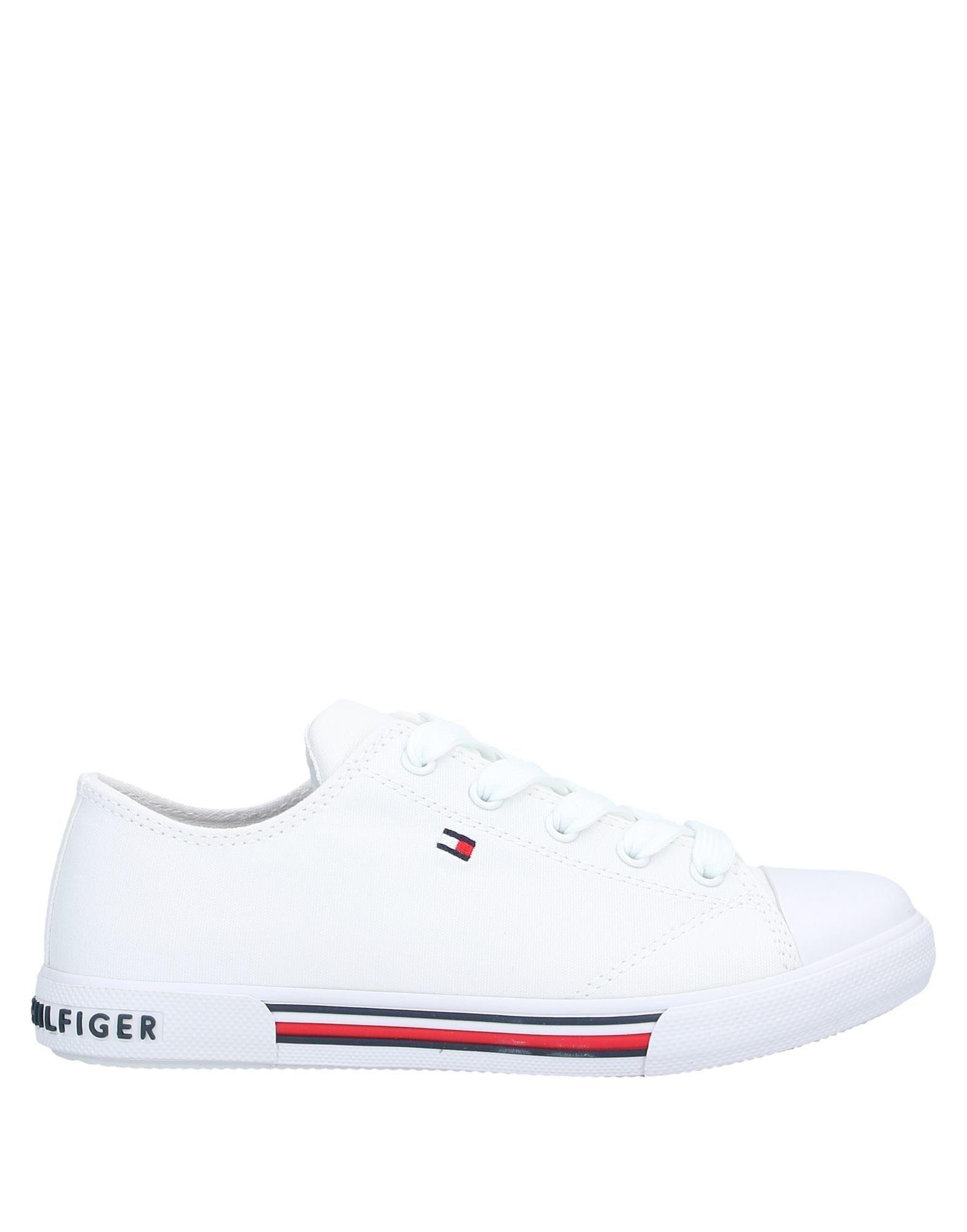 YOOX.COM(ユークス)《セール開催中》TOMMY HILFIGER Unisex スニーカー&テニスシューズ(ローカット) ホワイト 28 紡績繊維 / ゴム