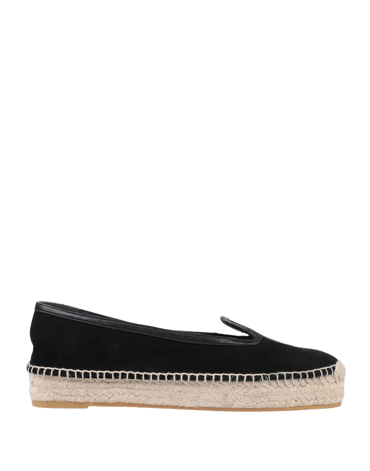 ALEXANDER MCQUEEN Espadrilles. nappa leather, no appliqués, solid color, round toeline, flat, leather lining, rubber sole, contains non-textile parts of animal origin. Soft Leather