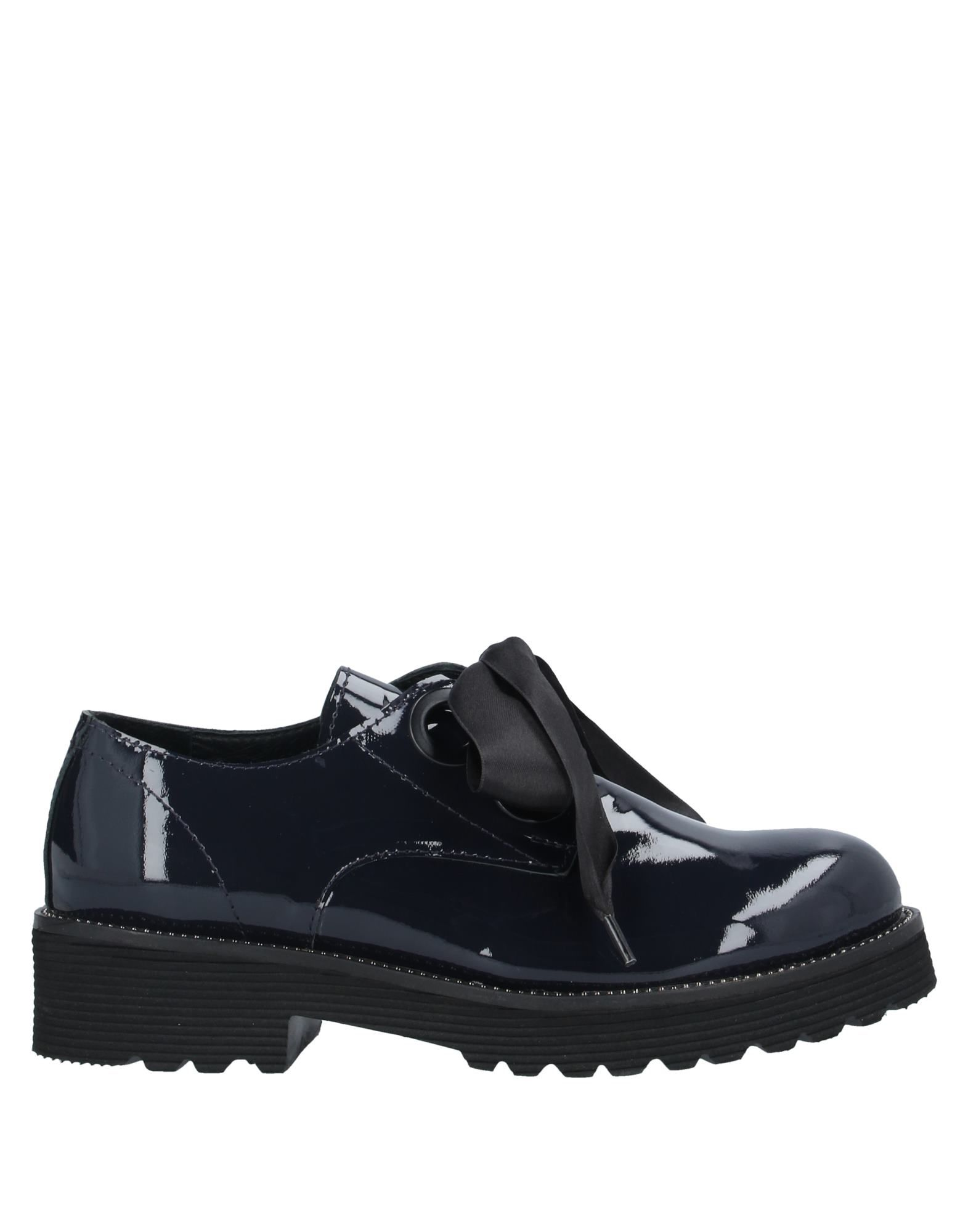 BUENO Lace-up shoes. varnished effect, metal applications, solid color, round toeline, square heel, leather lining, rubber sole, contains non-textile parts of animal origin. Soft Leather