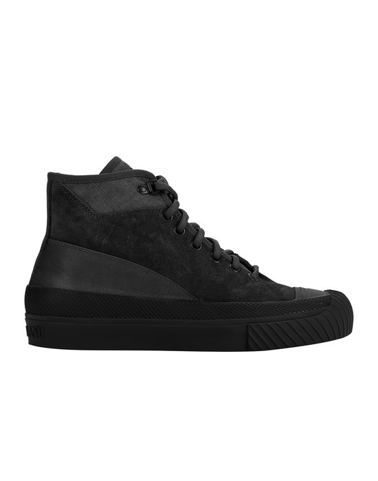 STONE ISLAND S02F6 SUEDE MID_GHOST PIECE SHOE Man Black