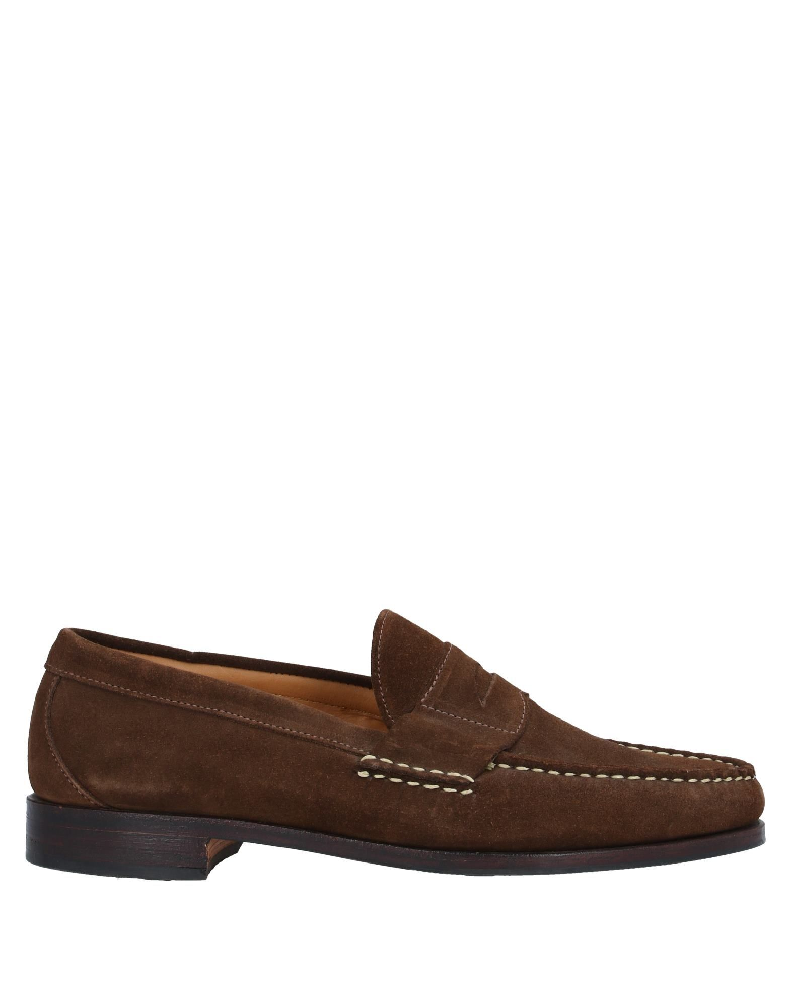 ALLEN EDMONDS Loafers. suede effect, stitching, solid color, round toeline, flat, leather lining, leather/rubber sole, contains non-textile parts of animal origin, small sized. Soft Leather