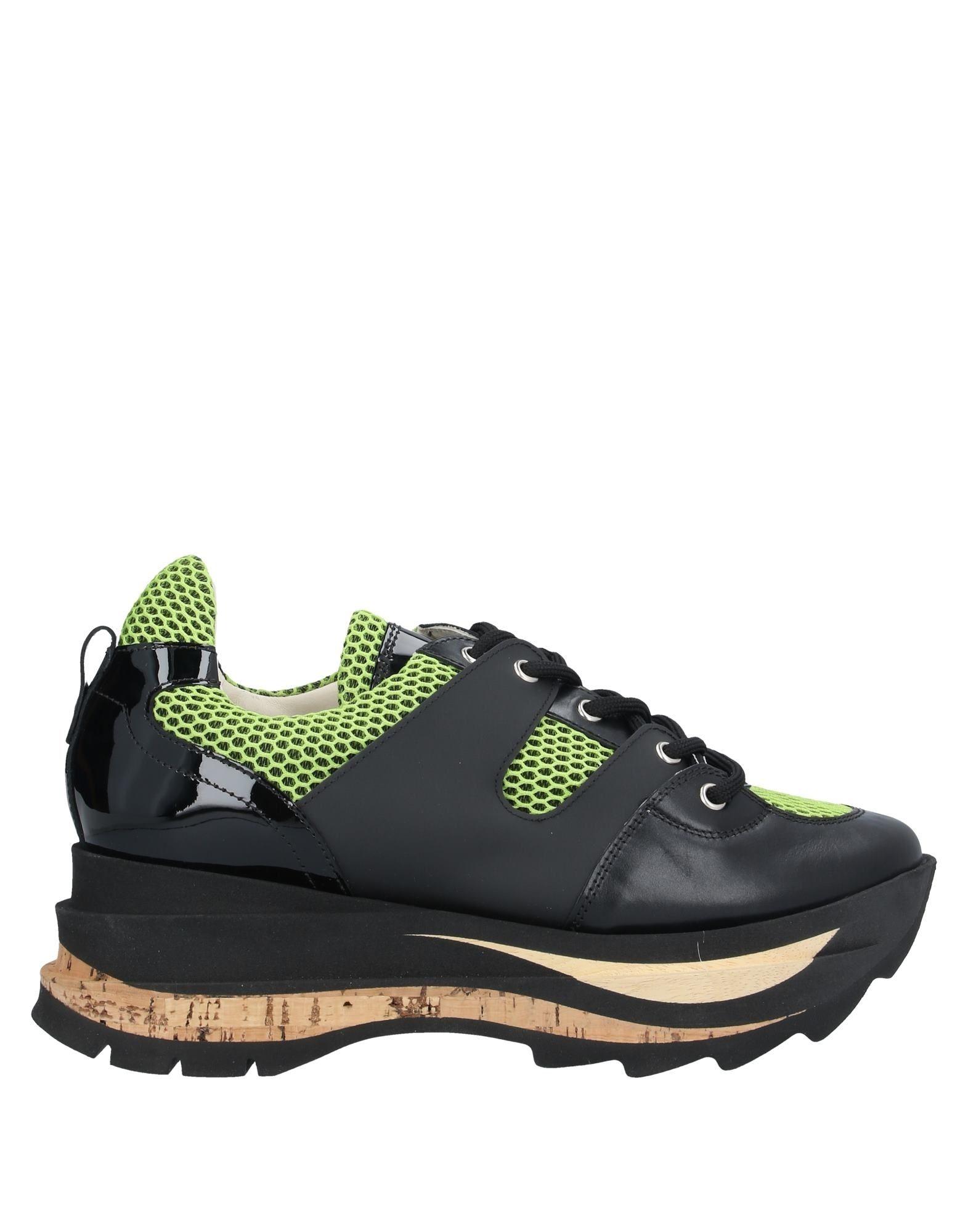 《セール開催中》AGL ATTILIO GIUSTI LEOMBRUNI レディース スニーカー&テニスシューズ(ローカット) ブラック 39.5 革 / 紡績繊維