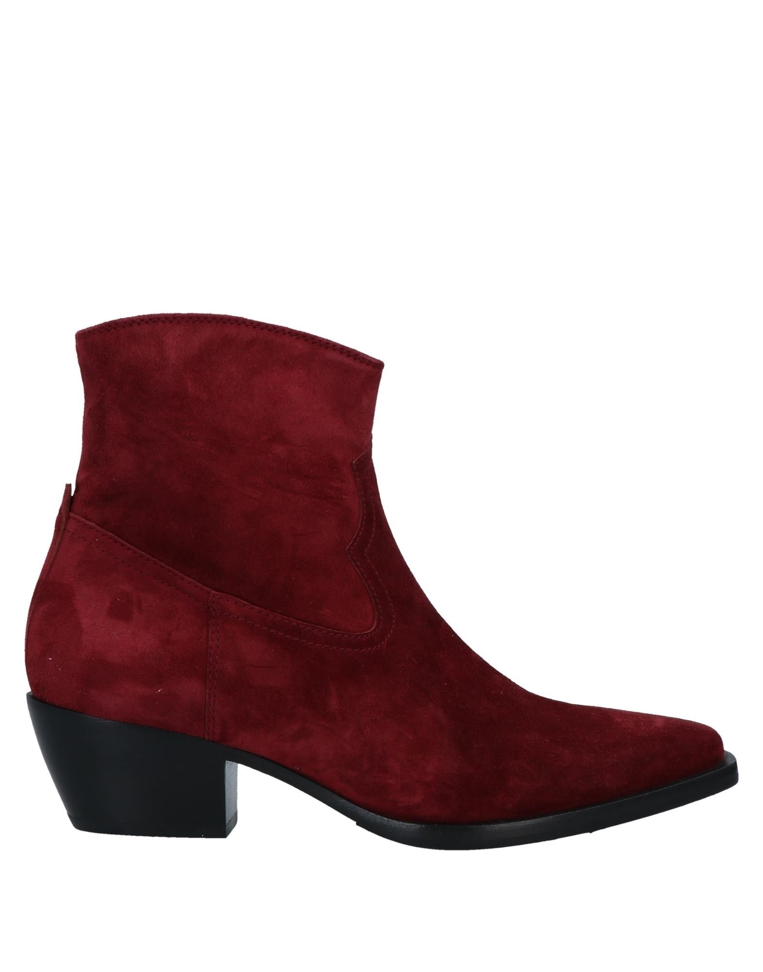 Henderson Baracco Ankle Boots In Maroon