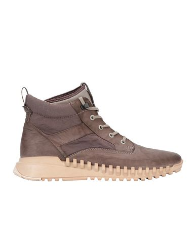 STONE ISLAND S0796 GARMENT DYED LEATHER EXOSTRIKE BOOT WITH DYNEEMA® SHOE Man Mud EUR 348