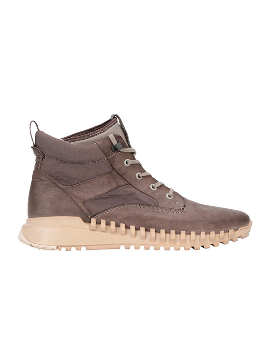 STONE ISLAND S0796 GARMENT DYED LEATHER EXOSTRIKE BOOT WITH DYNEEMA® SHOE Homme Grège