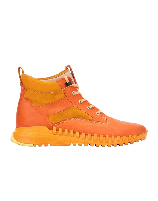 STONE ISLAND S0796 GARMENT DYED LEATHER EXOSTRIKE BOOT WITH DYNEEMA® SHOE Homme Mandarine