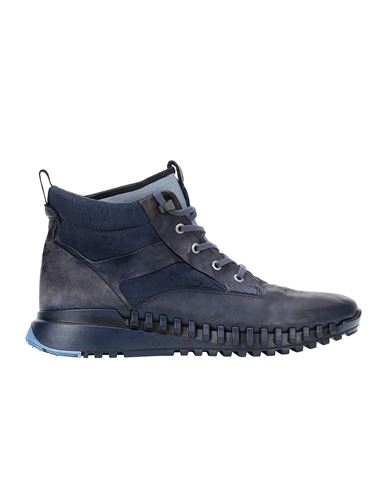 STONE ISLAND S0796 GARMENT DYED LEATHER EXOSTRIKE BOOT WITH DYNEEMA® SHOE Man Marine Blue USD 453
