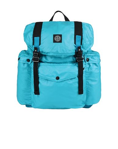 STONE ISLAND 90370 MUSSOLA GOMMATA CANVAS PRINT Backpack Man Turquoise USD 471