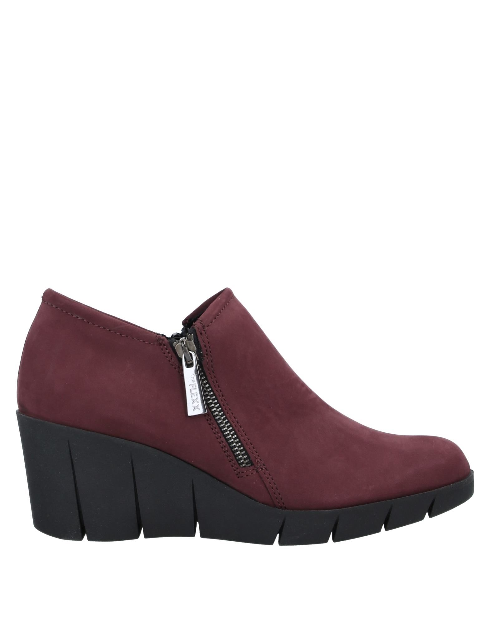 THE FLEXX Booties. leather, suede effect, logo, solid color, zipper closure, round toeline, wedge heel, rubber wedge, leather lining, rubber sole, contains non-textile parts of animal origin. Soft Leather