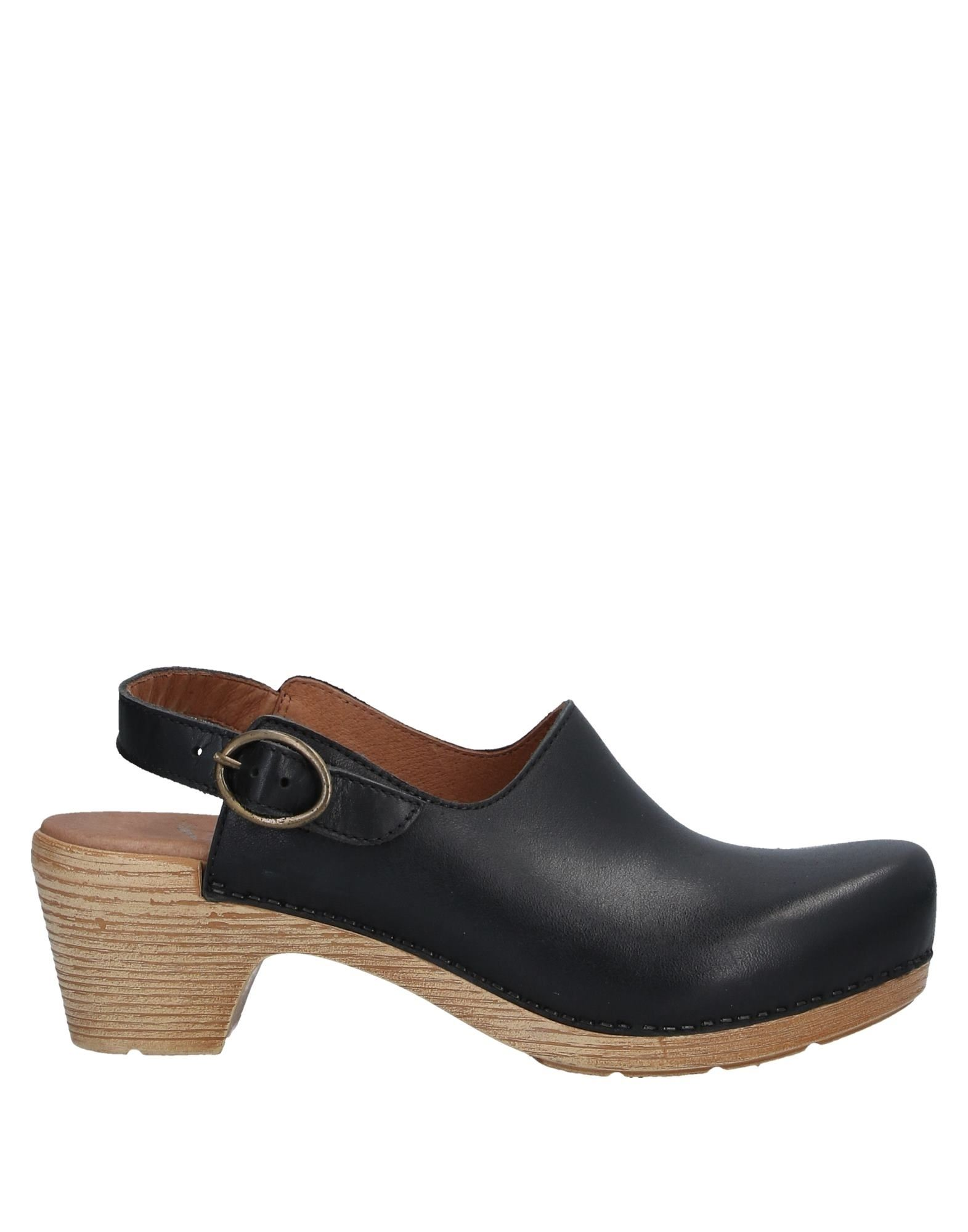 DANSKO Mules. leather, no appliqués, solid color, buckle fastening, round toeline, square heel, leather lining, rubber sole, contains non-textile parts of animal origin. Soft Leather