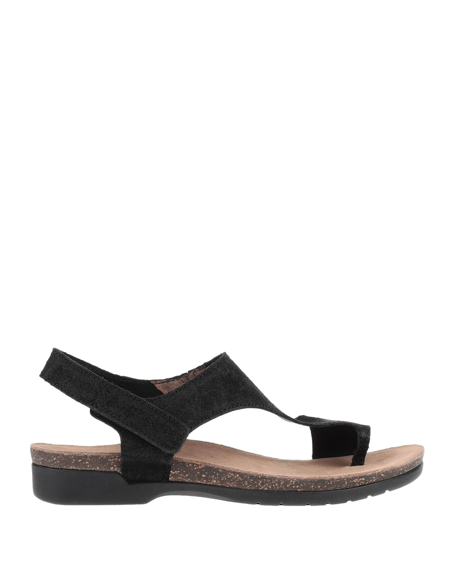 DANSKO Toe strap sandals. suede effect, no appliqués, solid color, velcro closure, round toeline, flat, leather lining, rubber sole, contains non-textile parts of animal origin. Soft Leather
