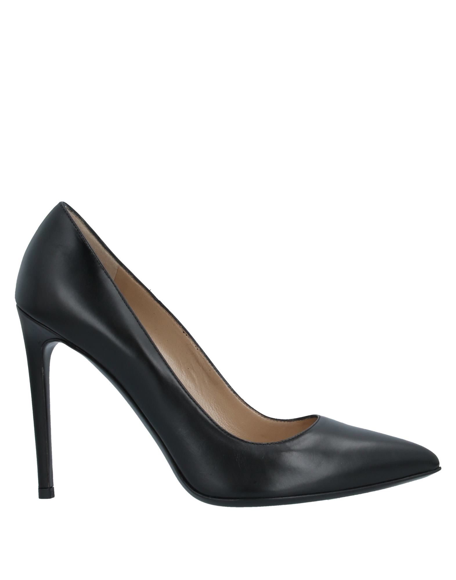 DONDUP Pumps. no appliqués, solid color, narrow toeline, spike heel, covered heel, leather lining, leather sole, contains non-textile parts of animal origin, large sized. Soft Leather