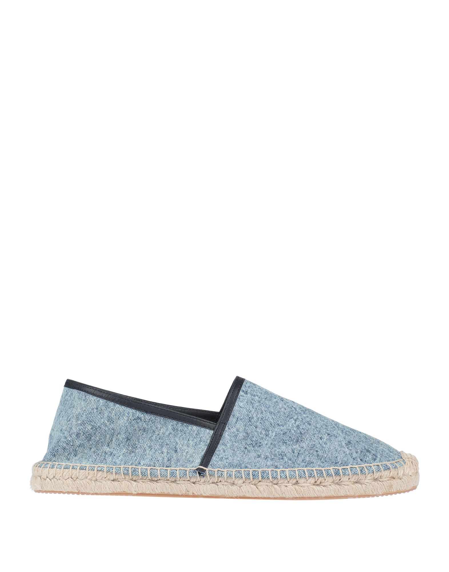 ISABEL MARANT Espadrilles. denim, no appliqués, solid color, narrow toeline, flat, leather lining, rubber cleated sole, contains non-textile parts of animal origin. 100% Cotton
