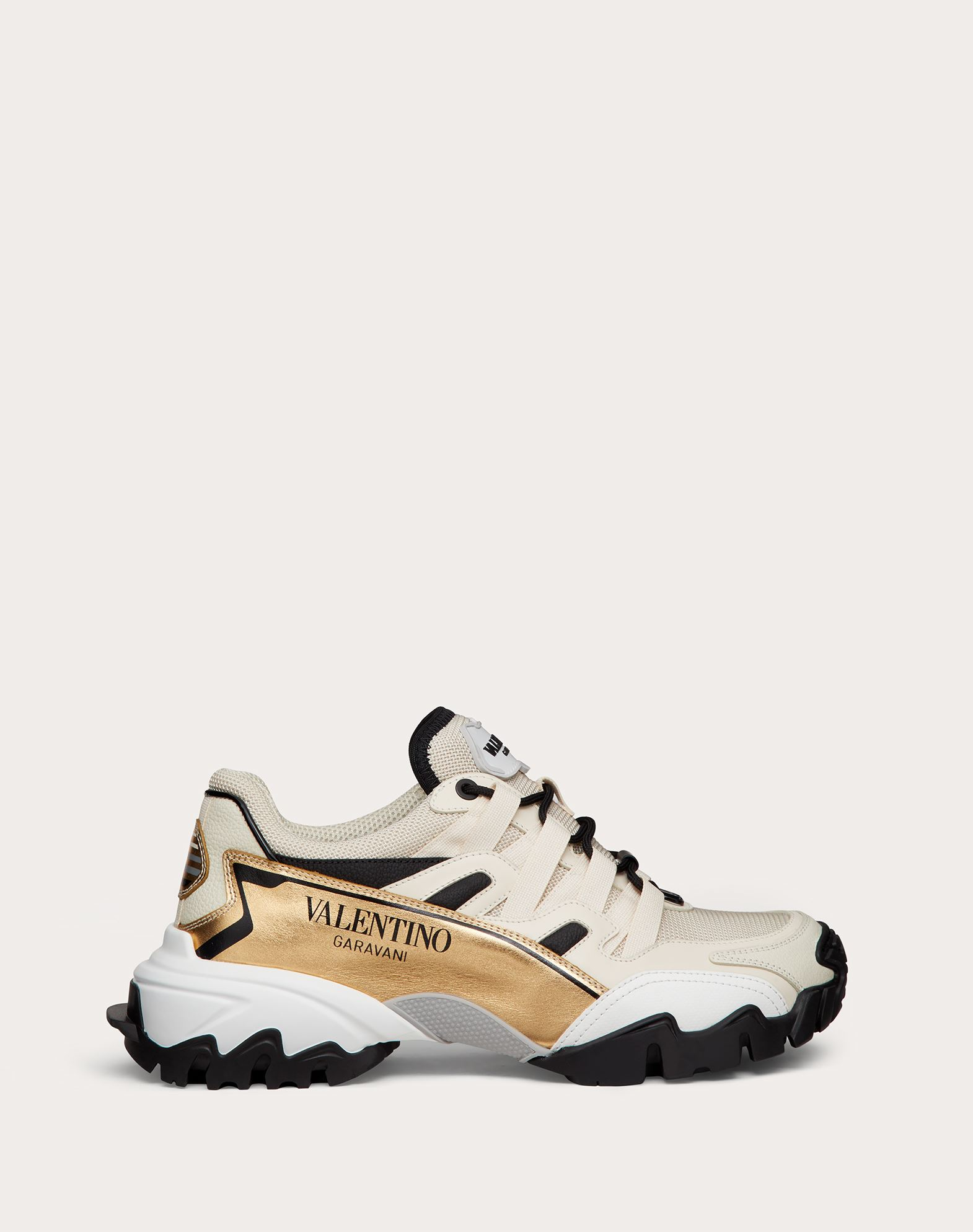 Valentino VALENTINO GARAVANI VALENTINO GARAVANI CLIMBERS SNEAKER IN FABRIC AND CALFSKIN LEATHER
