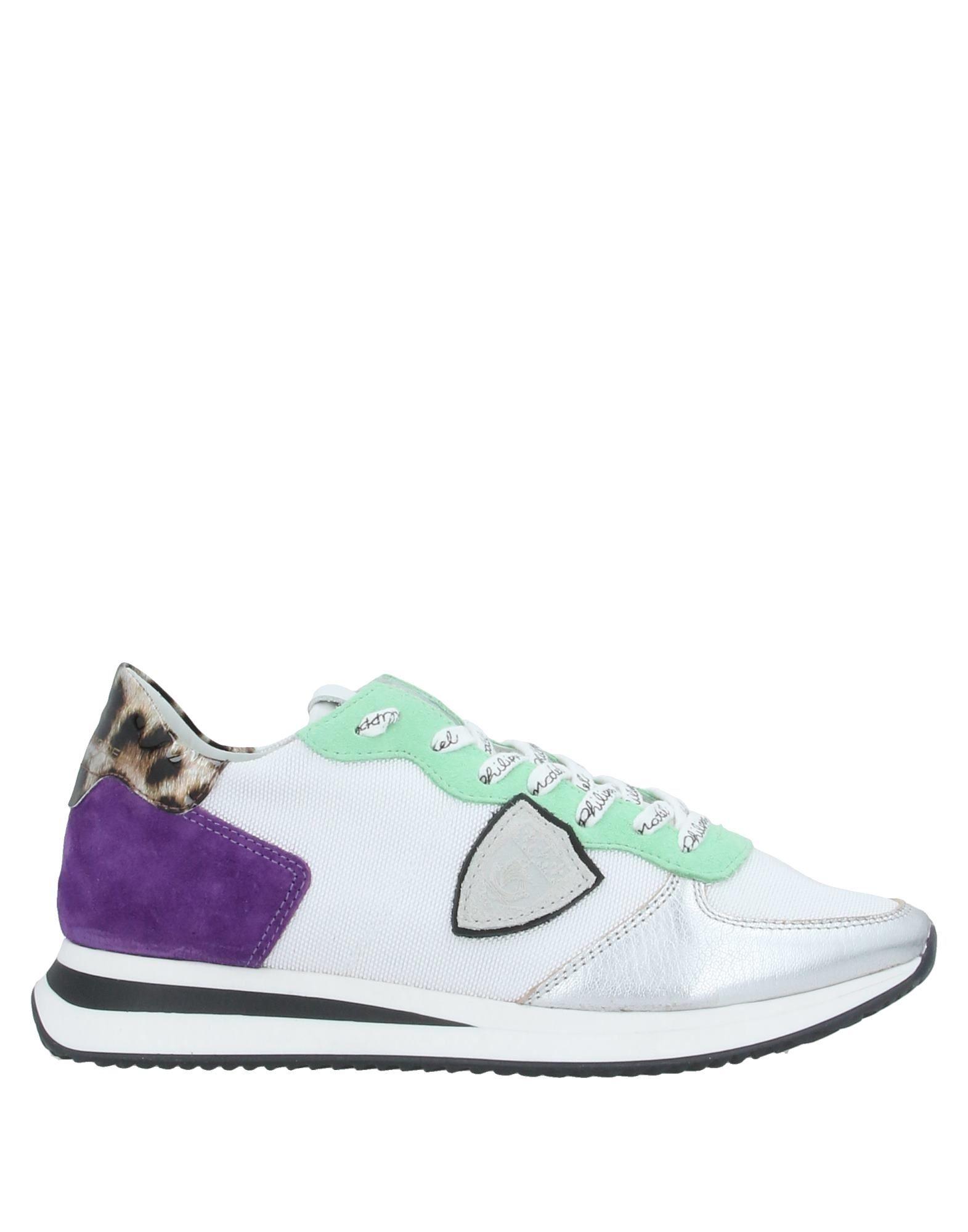 《セール開催中》PHILIPPE MODEL レディース スニーカー&テニスシューズ(ローカット) ホワイト 37 革 / 紡績繊維
