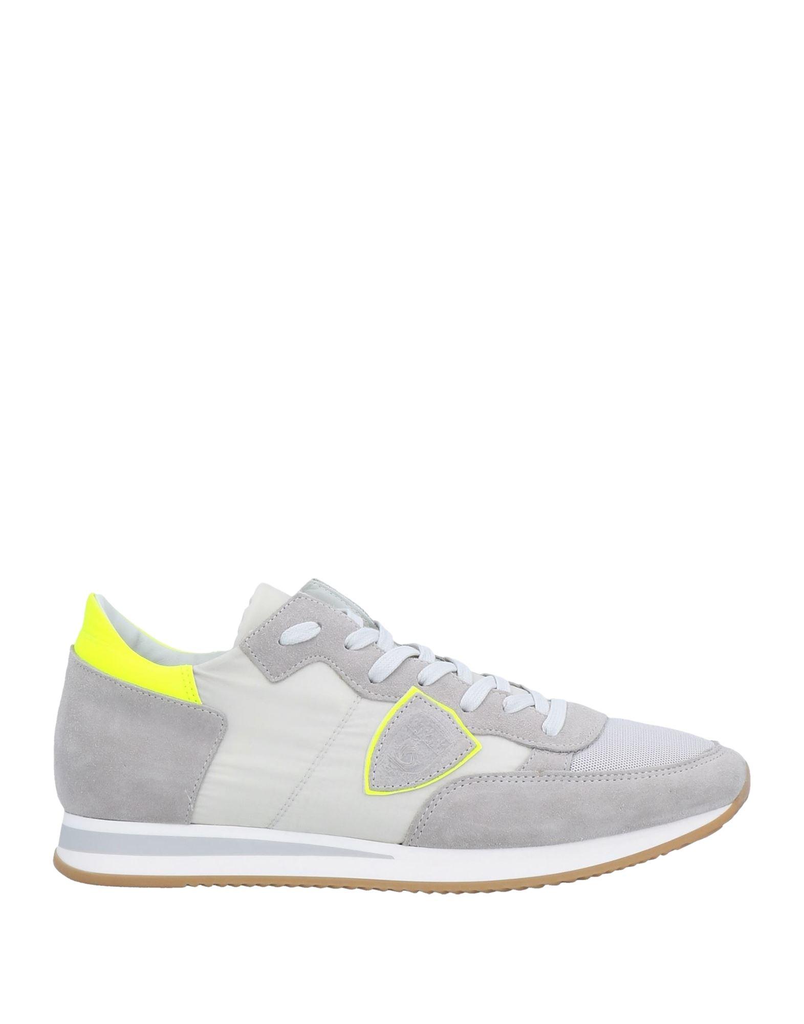 《セール開催中》PHILIPPE MODEL メンズ スニーカー&テニスシューズ(ローカット) ライトグレー 41 革 / 紡績繊維