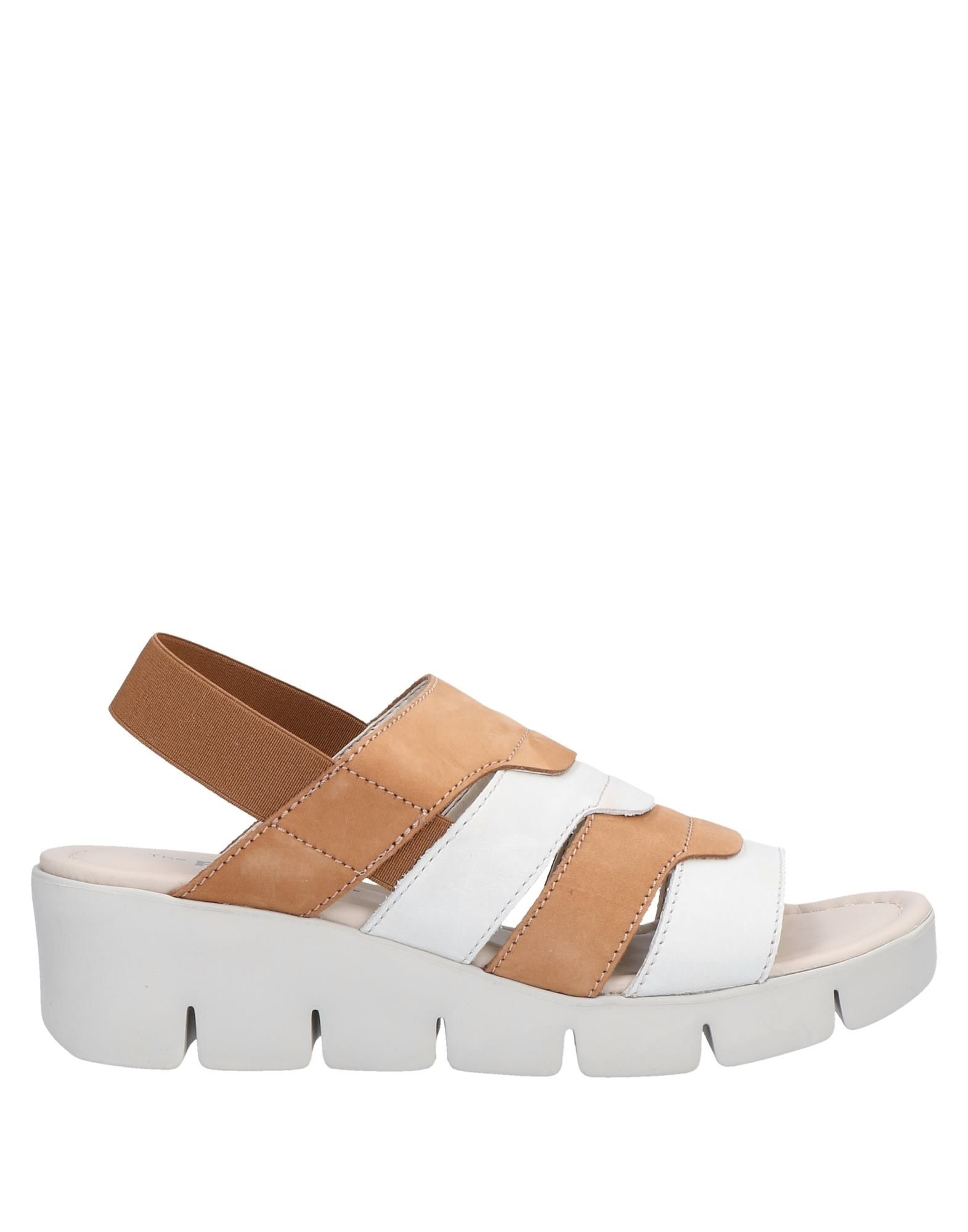 THE FLEXX Sandals. leather, no appliqués, two-tone, elasticized straps, round toeline, wedge heel, leather lining, rubber sole, contains non-textile parts of animal origin. Soft Leather