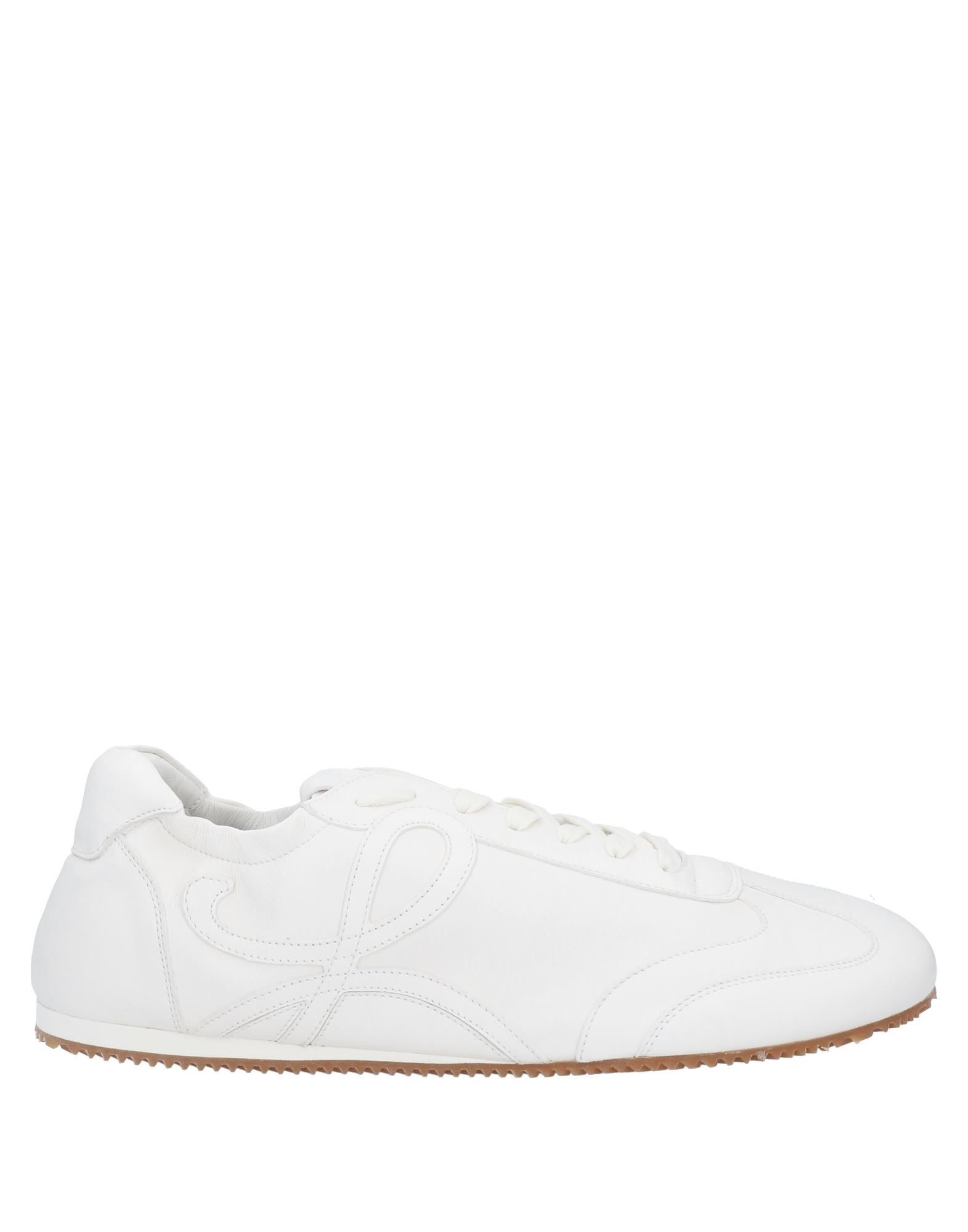 LOEWE Sneakers. leather, stitching, logo, solid color, laces, round toeline, flat, leather lining, rubber sole, contains non-textile parts of animal origin. Soft Leather