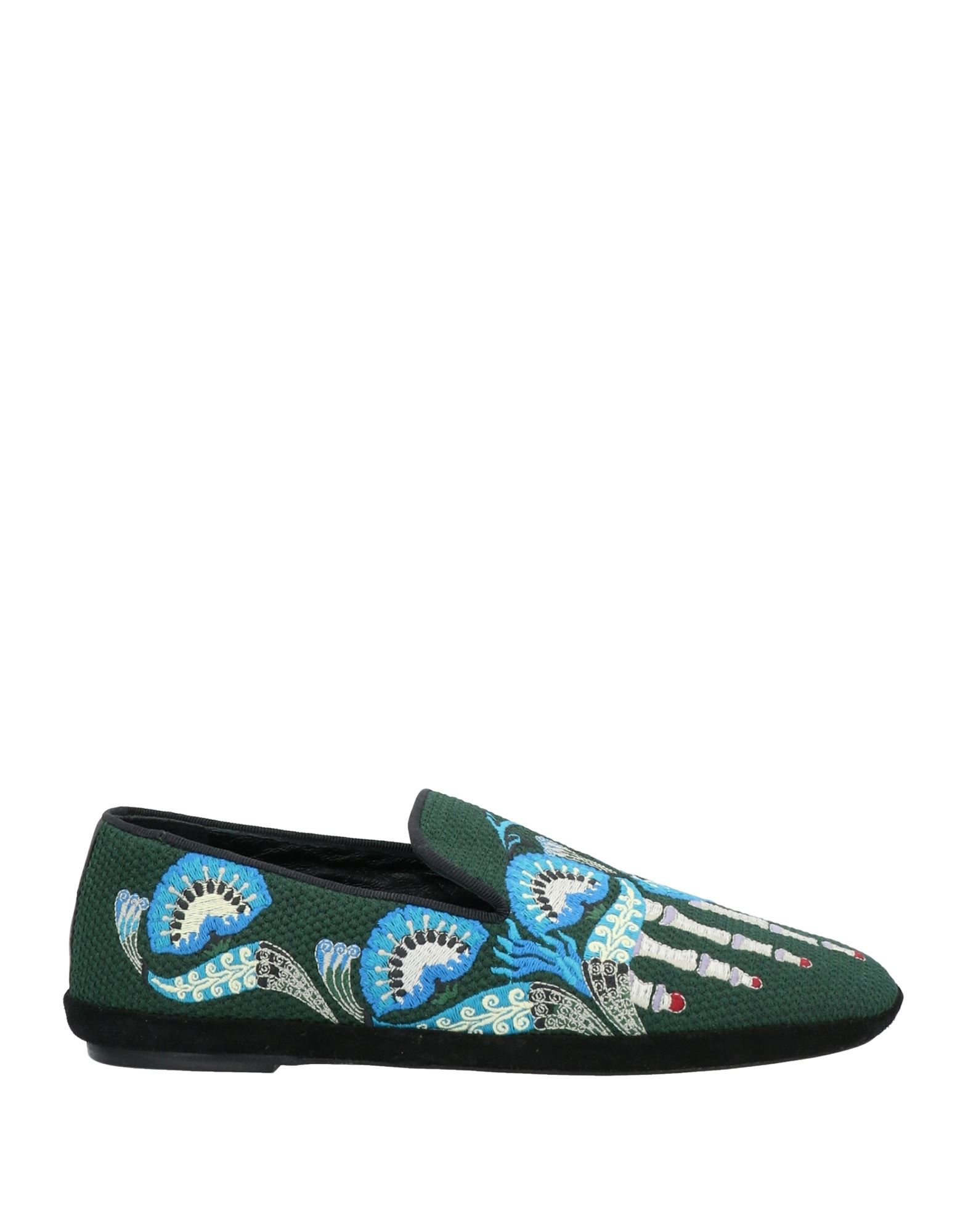 LOEWE Ballet flats. canvas, embroidered detailing, multicolor pattern, round toeline, flat, leather lining, leather sole, contains non-textile parts of animal origin. Textile fibers