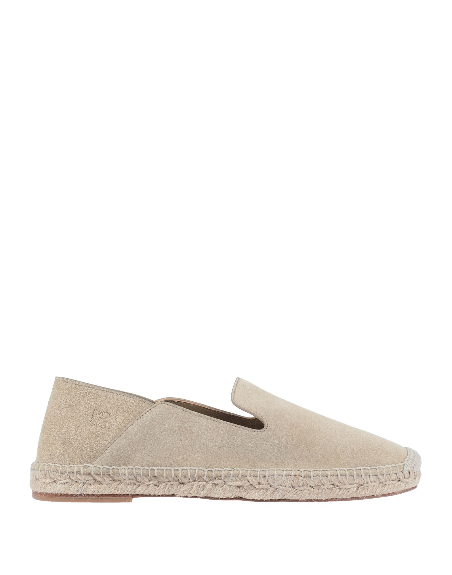 LOEWE Espadrilles. suede effect, logo, solid color, round toeline, flat, leather lining, leather sole, contains non-textile parts of animal origin. Soft Leather