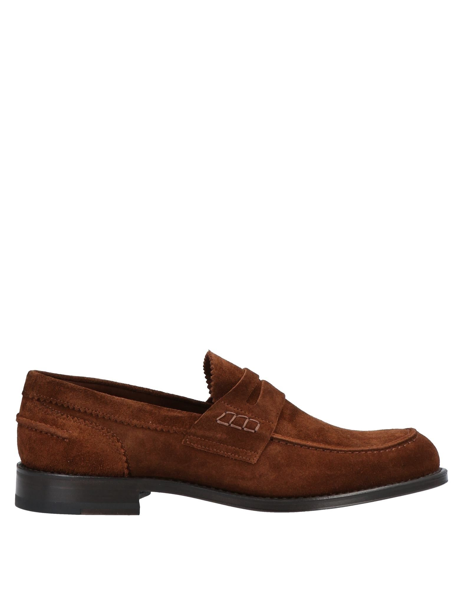 TAGLIATORE Loafers. suede effect, no appliqués, solid color, round toeline, square heel, leather lining, leather/rubber sole, contains non-textile parts of animal origin. Soft Leather