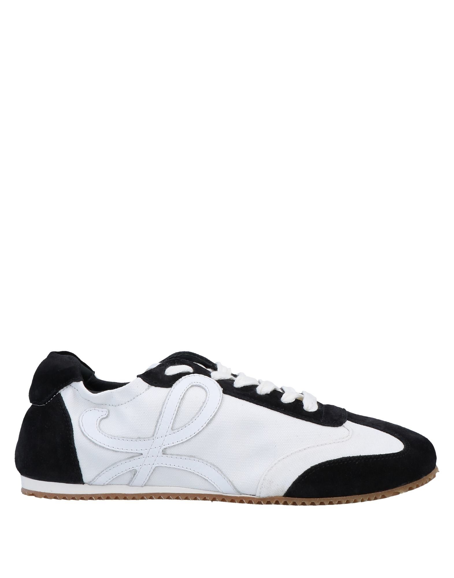 LOEWE Sneakers. canvas, suede effect, logo, two-tone, laces, round toeline, flat, leather lining, rubber cleated sole, contains non-textile parts of animal origin. Soft Leather, Textile fibers