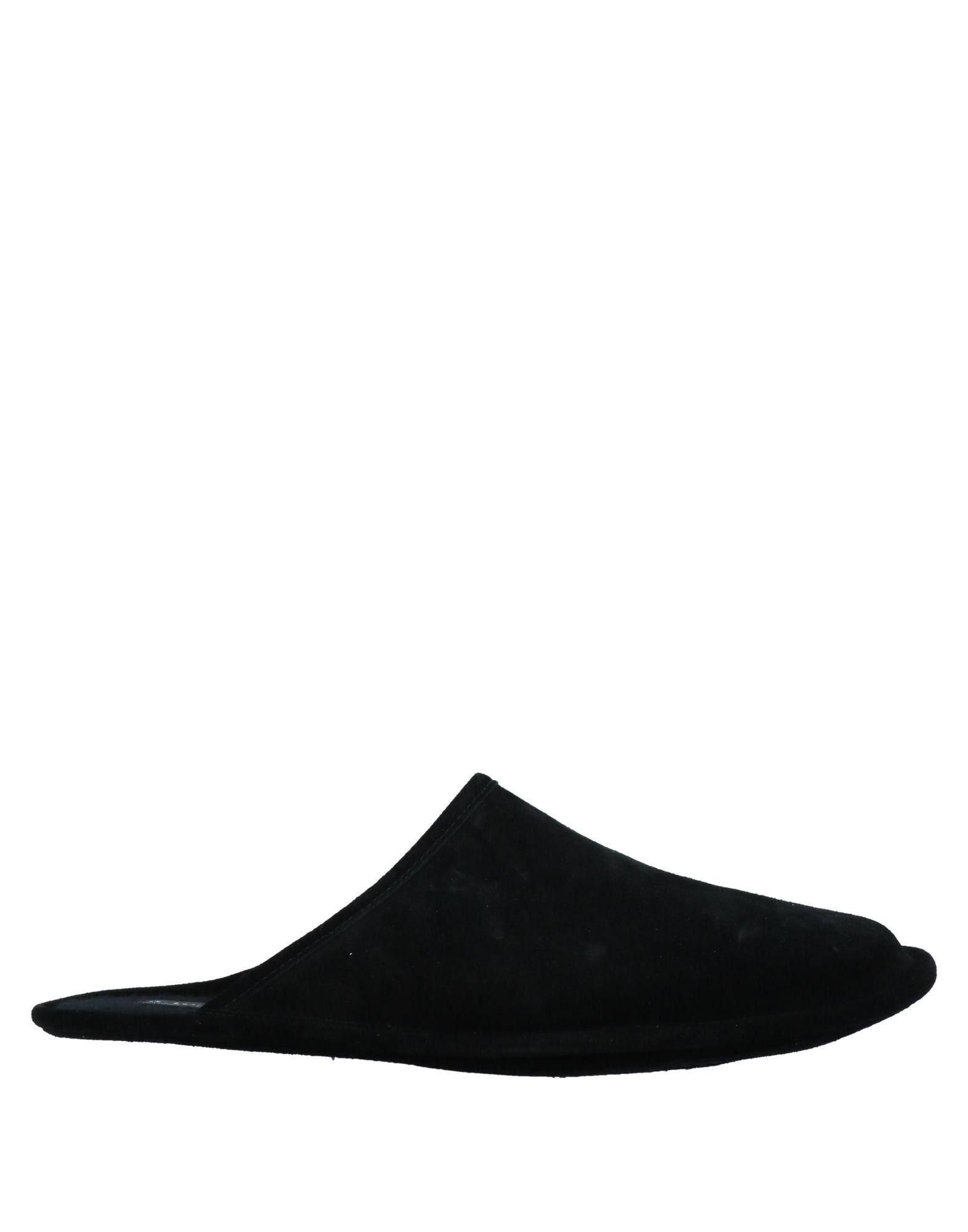 《セール開催中》A.TESTONI メンズ スリッパ ブラック 5 革