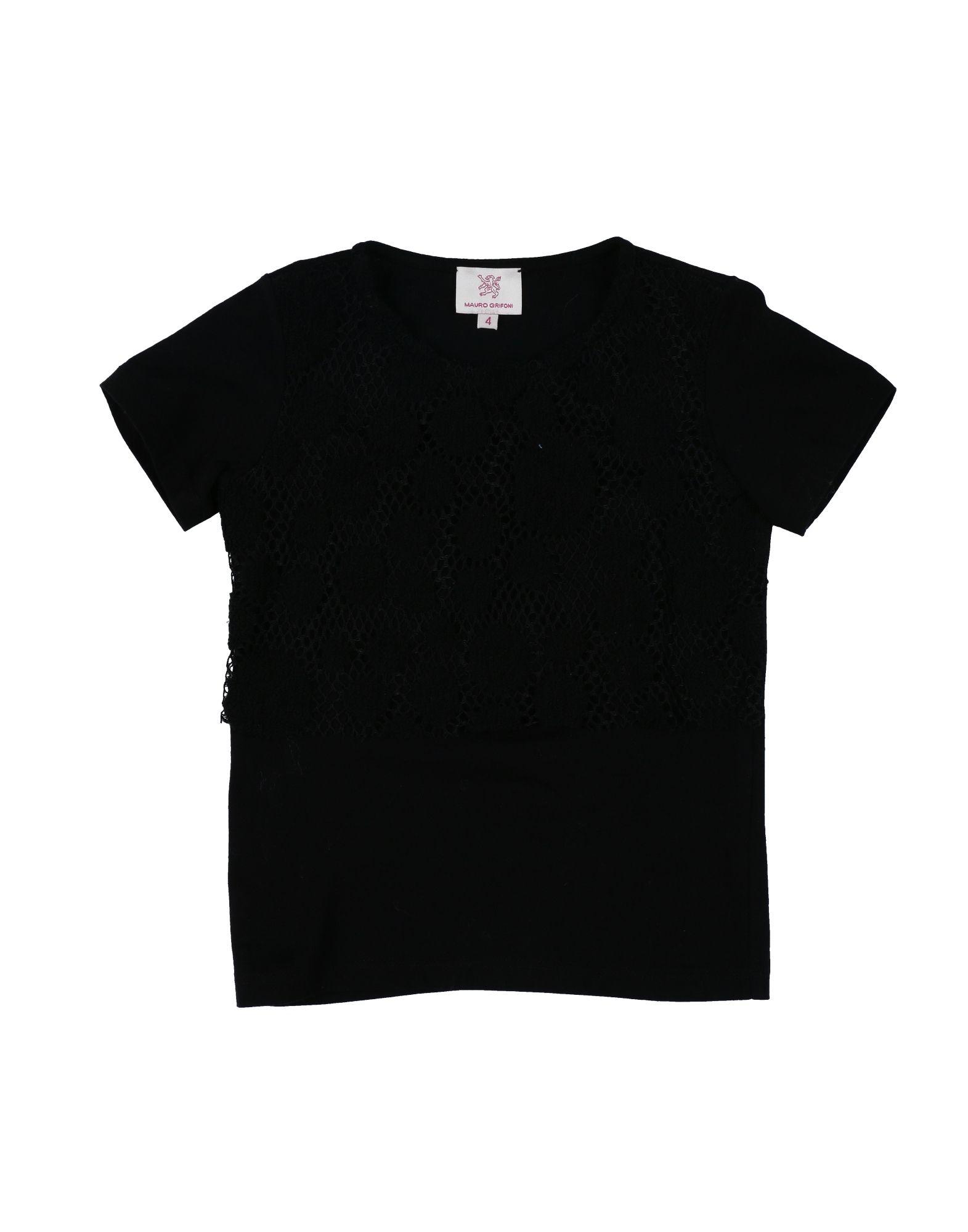 MAURO GRIFONI KIDS Mädchen 3-8 jahre T-shirts Farbe Schwarz Größe 2