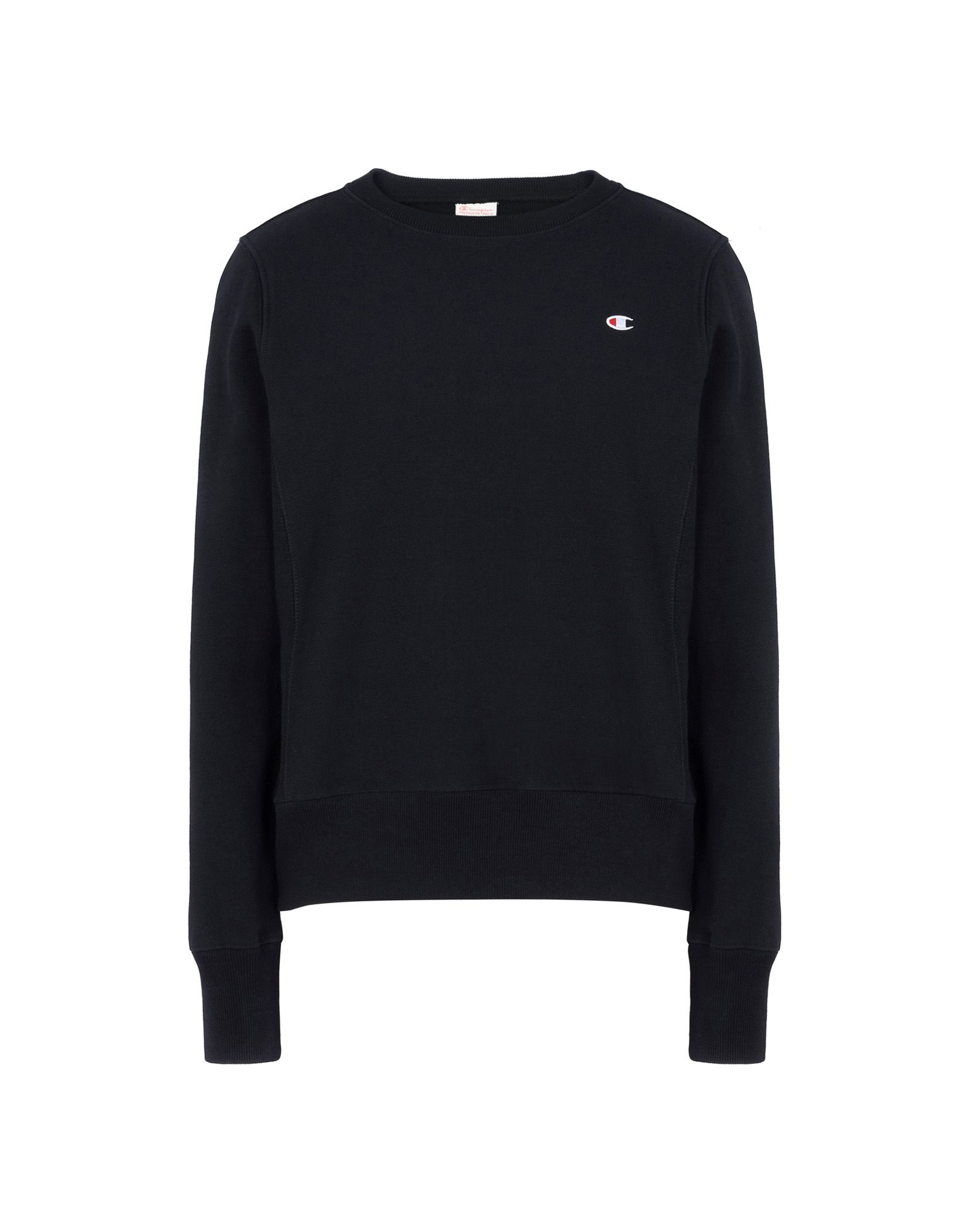 Reverse Weave Terry Crew Neck Sweatshirt, Black