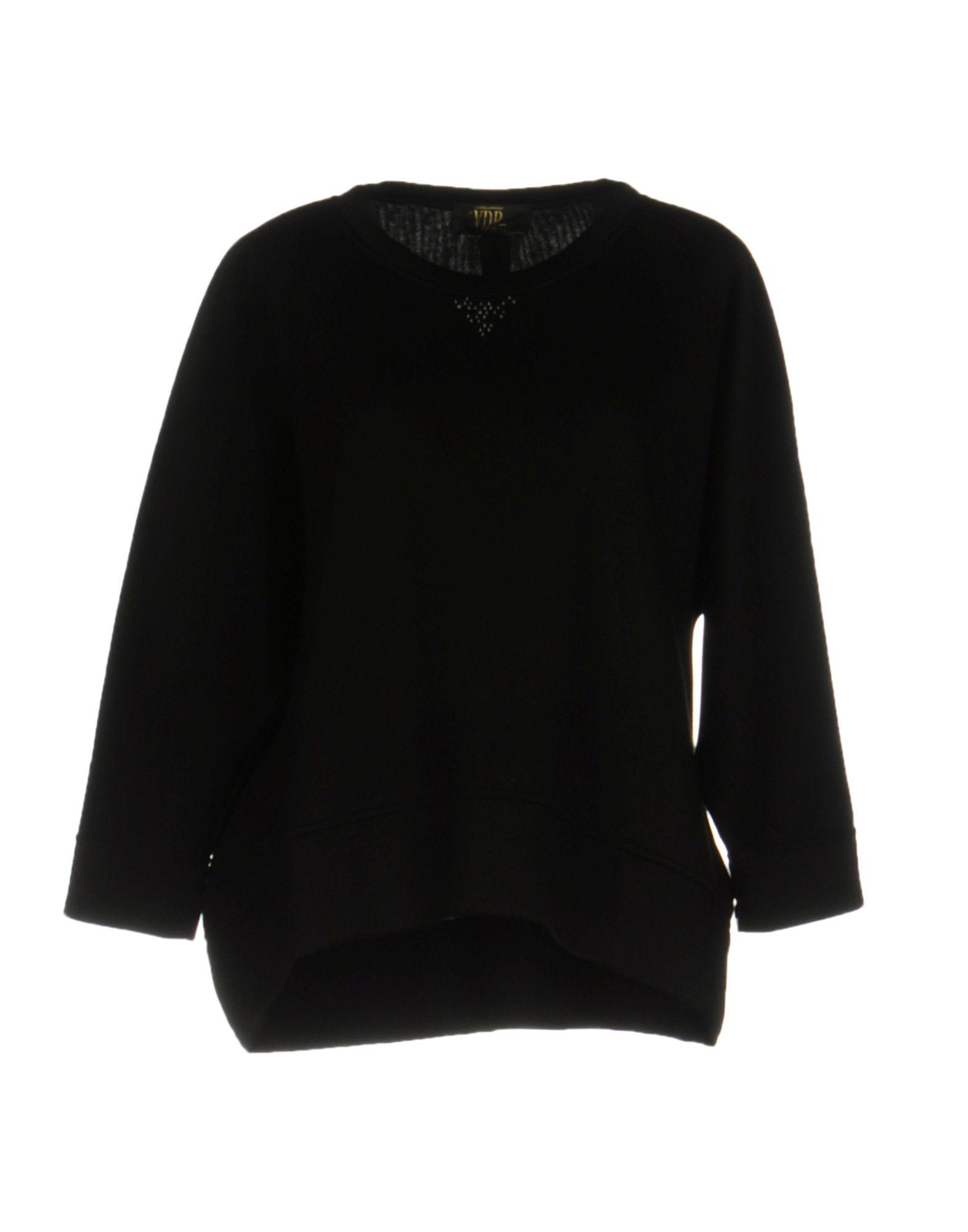 《送料無料》VDP CLUB レディース スウェットシャツ ブラック 40 レーヨン 100%