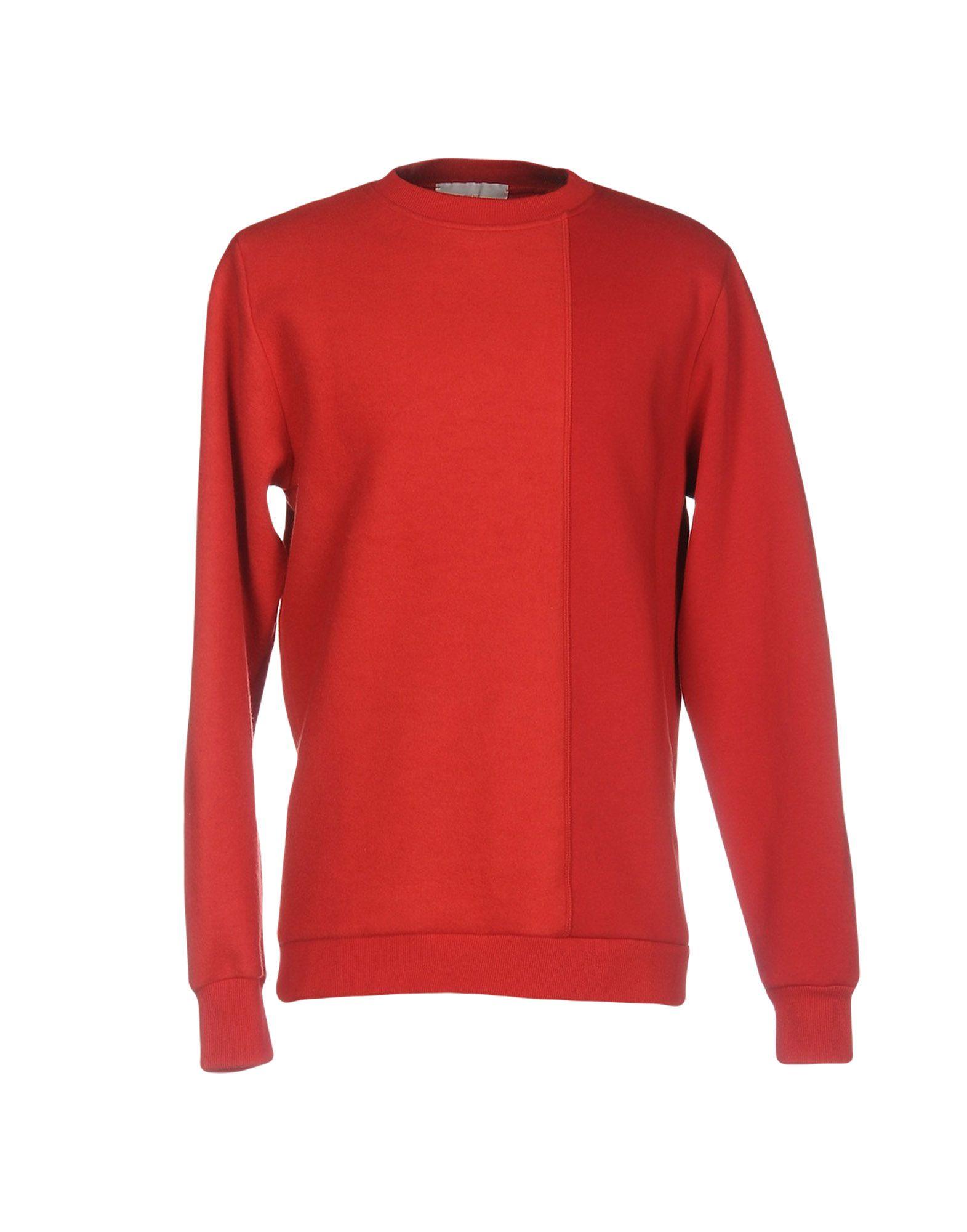 《送料無料》MIRROR メンズ スウェットシャツ レッド L コットン 100%