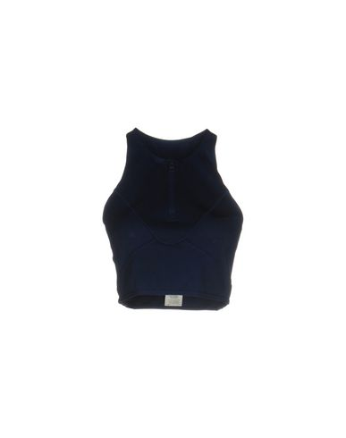ADIDAS by STELLA McCARTNEY Top femme. jersey, couleur unie de base, col rond, sans manches, logo, fermeture sur l'avant, fermeture avec fermeture &eac