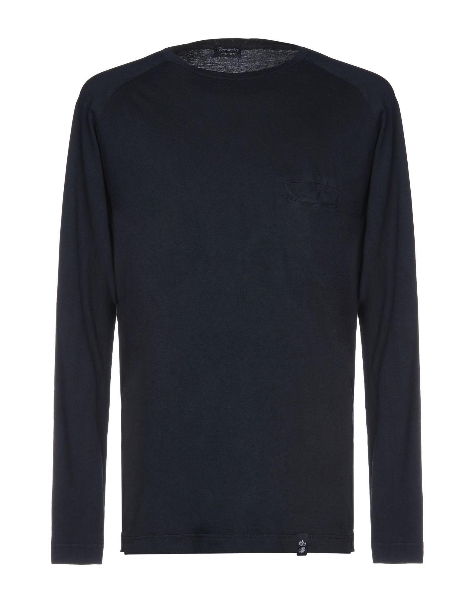 《送料無料》DRUMOHR メンズ T シャツ ダークブルー L コットン 100%