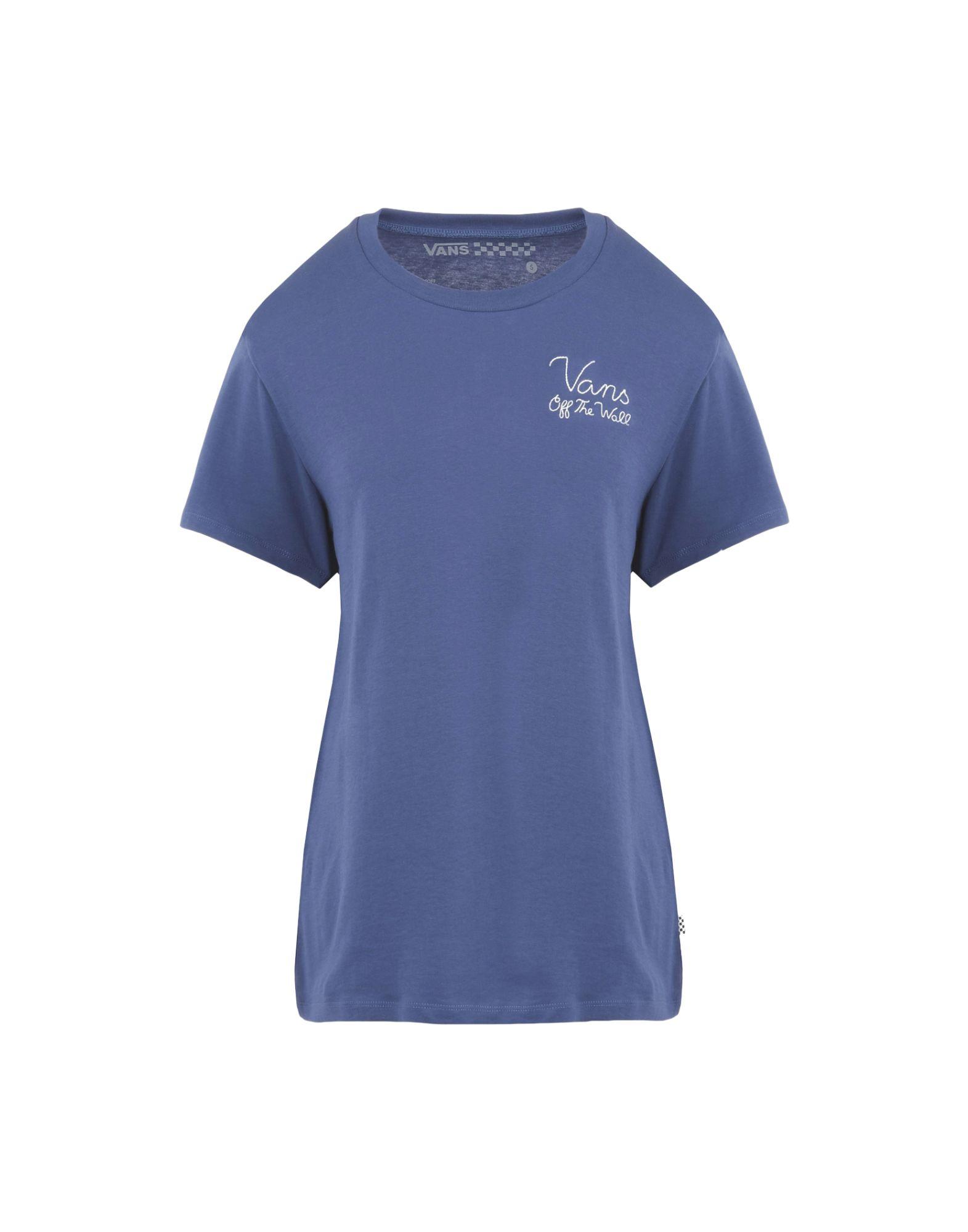 《送料無料》VANS レディース T シャツ ブルー XS コットン 100% SIGNED TEE