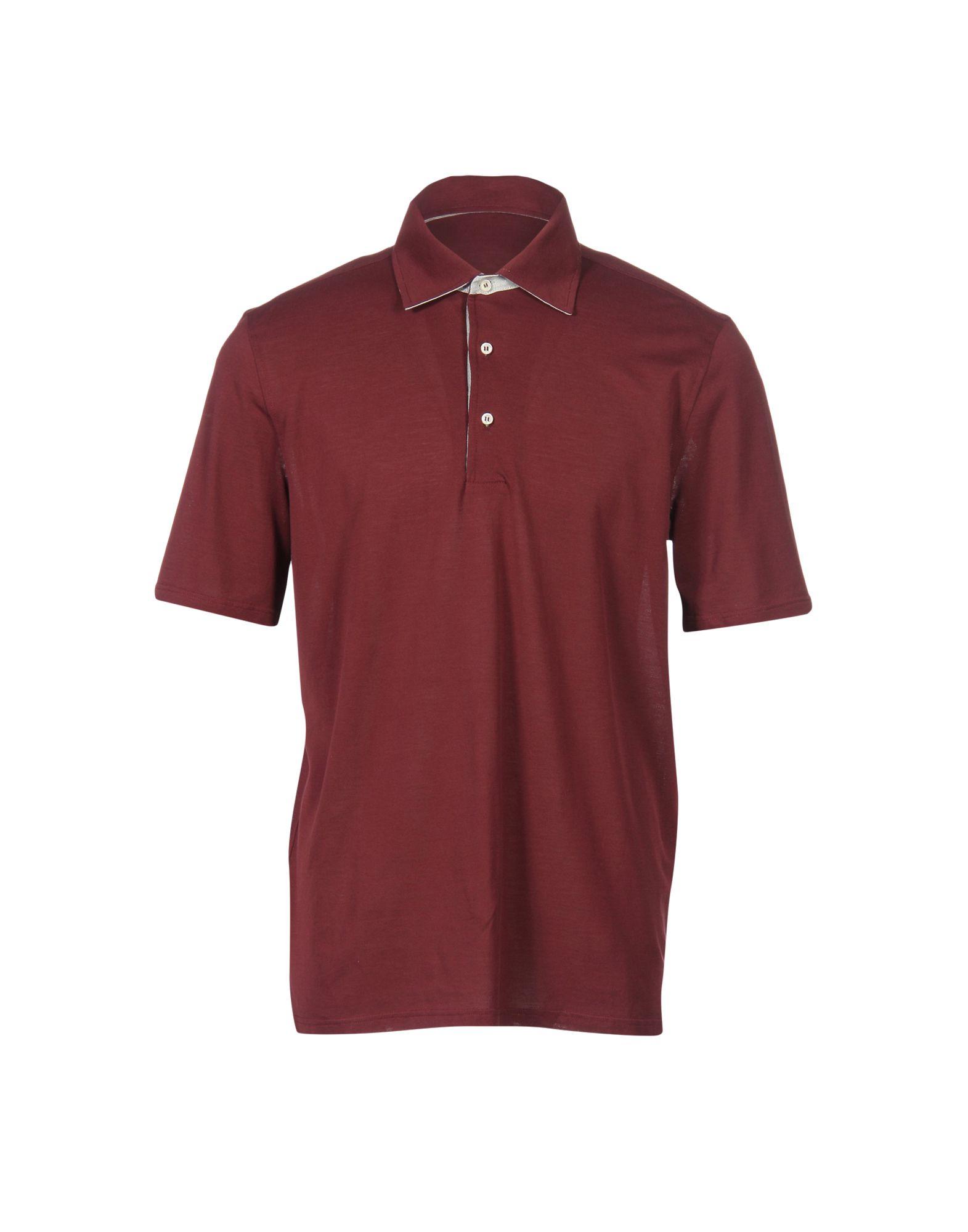 DORIANI Polo Shirt in Maroon