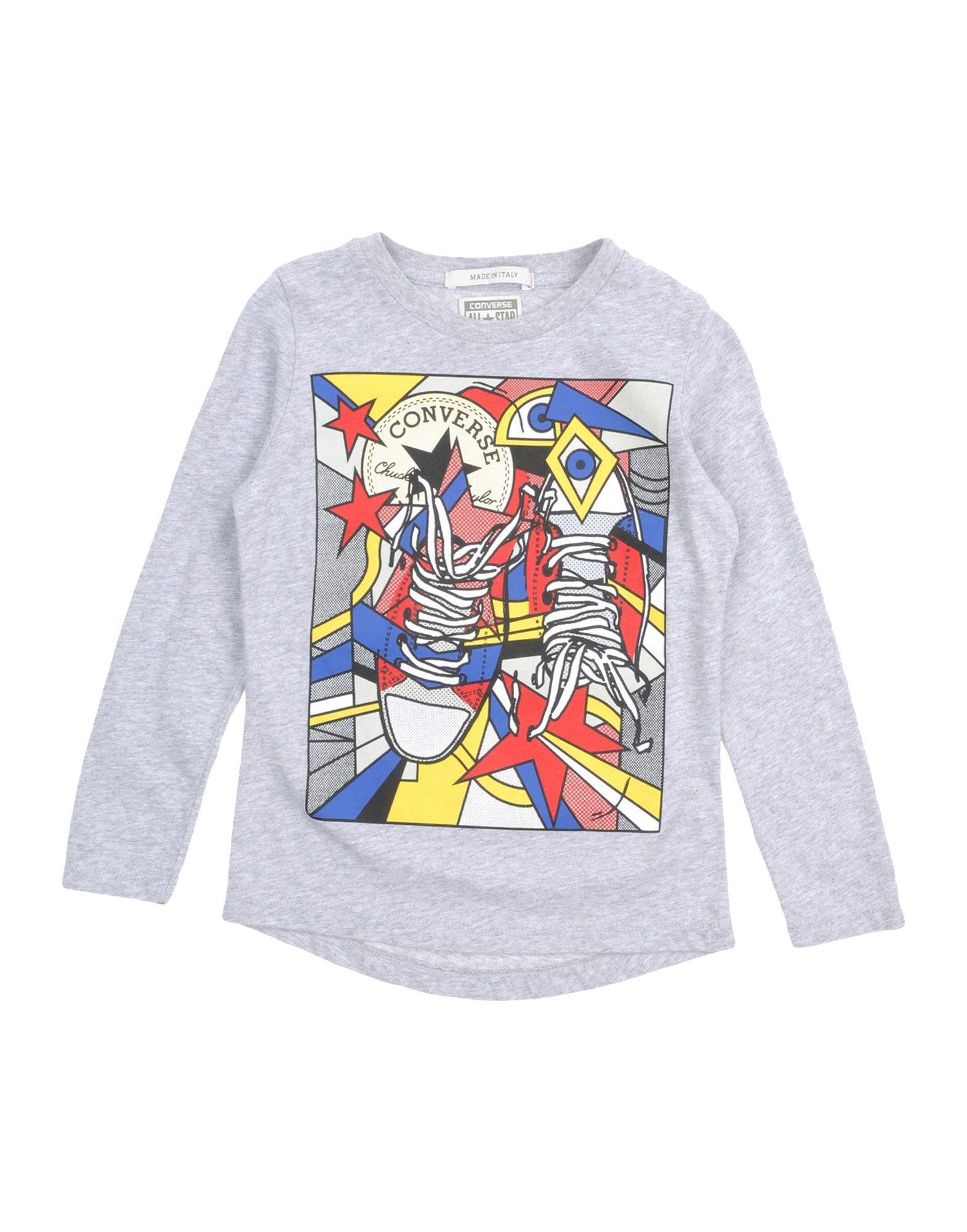CONVERSE ALL STAR Mädchen 3-8 jahre T-shirts Farbe Grau Größe 2