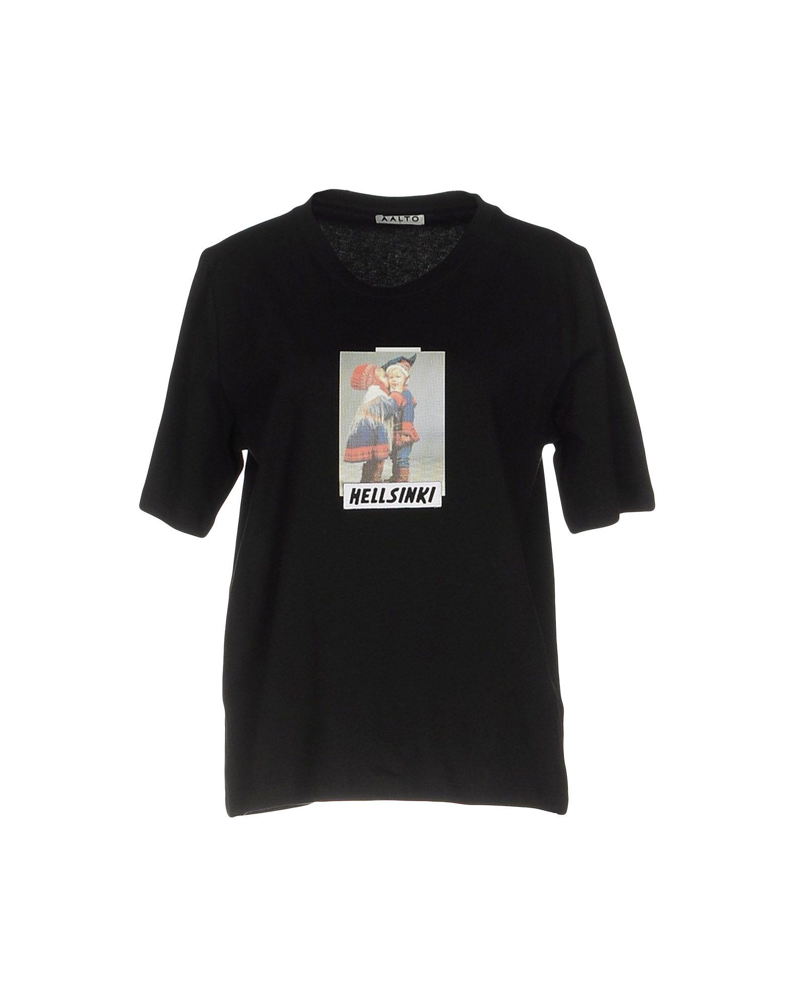 AALTO Футболка aalto хлопковая футболка с принтом