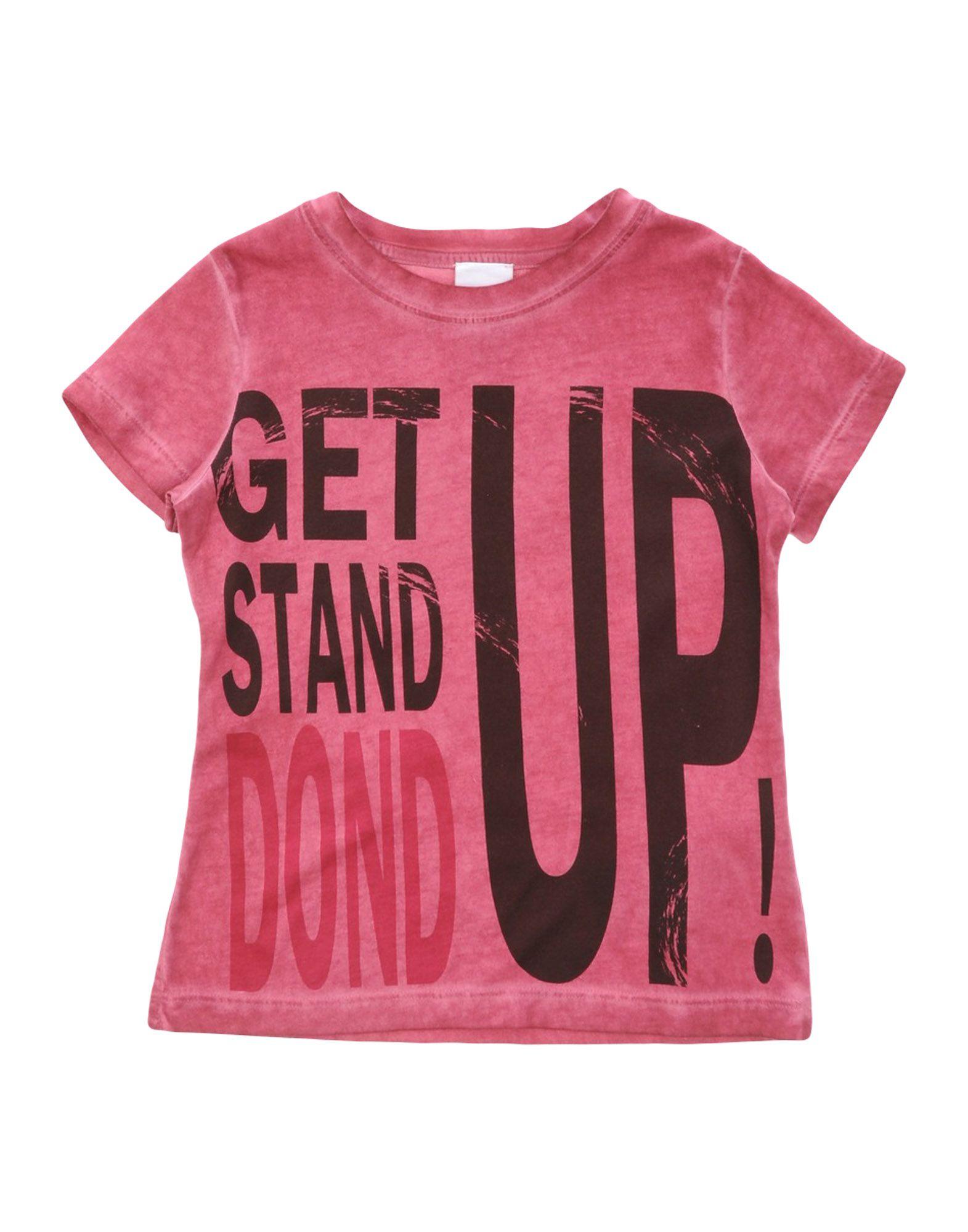 Dondup Kids' T-shirts In Pink