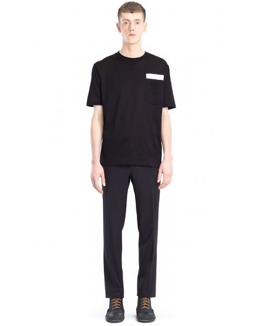 lanvin t-shirt with reflective strip men
